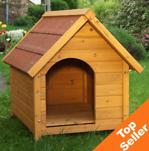 Wooden Dog Kennel, Winter Warm, House Weather, Proof Shelter Outdoor, PET, Spike