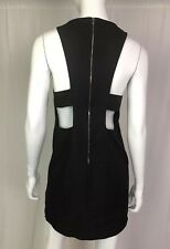 $375 Kimberly Ovitz Women's 2 Black Sleeveless Open Back Shift Sheath Mini Dress