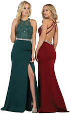 LONG SEMI FORMAL SPECIAL OCCASION PAGEANT DRESS SEXY STRETCHY EVENING PROM GOWN