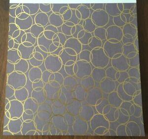 12x12 Gold Foiled Circles Scrapbooking Paper