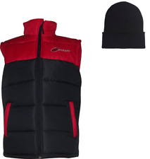 PULSE ADULT BODY WARMER GILET RED & BLACK + FREE BEANIE HAT!