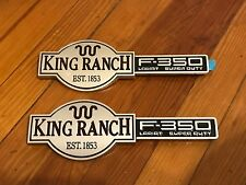 2003 - 2007 FORD F350 F-350 KING RANCH FRONT FENDER EMBLEMS SET L/R PAIR