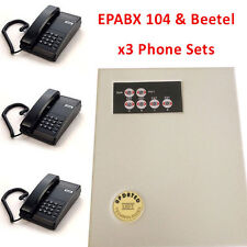 Small EPABX PABX Intercom system telephone 104 - With x3 Beetel Phone Set