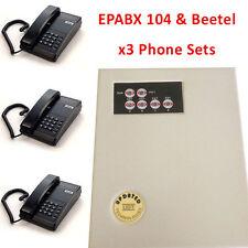 Small EPABX PABX Intercom system telephone 104 - With x3 Beetel Phone Set