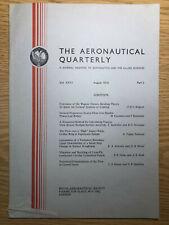 The Aeronautical Quarterly (Royal Aeronautical Society Journal) RARE Aug 1975
