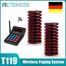 T119 Restaurant Pager System 1xTransmitter+20*Coaster Pager Platz für speisen DE