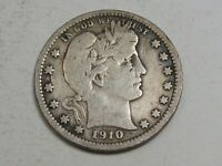 1910 Better Date Barber Quarter.  #74
