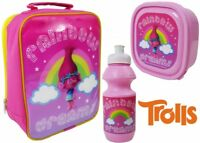 "Official Trolls ""Poppy"" 3pc Lunch Bag Sports Bottle&Sandwich Box Back To School"