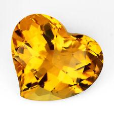 9.44ct Natural Attractive Golden Yellow Citrine Nice Heart Shape Brazil Gemstone