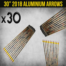 "30X 30"" ALUMINIUM CAMO ARROWS FOR COMPOUND OR RECURVE BOW TARGET ARCHERY NEW"