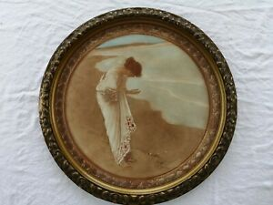 William Henry Margetson Sea has Its Pearls - Early 20th C Print Circular Frame