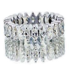 2.50 CARATO ETERNITY fede nuziale Tendone diamanti 18K ORO BIANCO