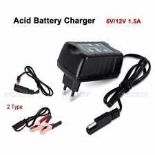 Lead-acid Battery Charger Maintainer Tender Trickle Car 6V 12V Motorcycle 1.5A