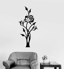Vinyl Decal Beautiful Rose Wall Sticker Plant Home Decor Style (ig672)