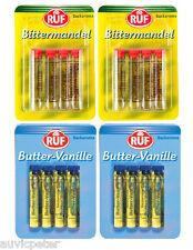 4Pack RUF Bittermandel (Bitter Almond), Butter Vanilla, Rum Essence, Aroma 16x2g