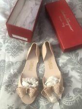 Ferragamo Jelly Shoes Nude Beige Size Uk 5 Eu 38 BNIB