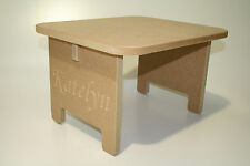 DIY Baby Toddler Table / Stool Personalisable with ANY Text! Great Gift Present