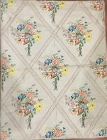 19th Century French Silk Brocade Floral Embroidery  Woven Fabric