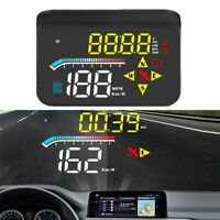 """3.5"""" Car Black HUD Displayer LED Speed/Voltage/Compass OBD2 + GPS With USB Cable"""