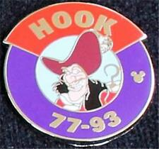 Hook Peter Pan Villains Parking Sign Hidden Mickey Cast Lanyard Disney Pin 2013