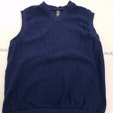 Nike Golf Sweater Vest Men's Size Large Blue Cotton