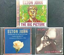 3 Elton John Cds - The Big Picture; Sleeping With The Past; Elton John - Tested