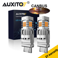 CANBUS Anty Hyper Flash 3157 LED Amber Yellow Turn Signal Parking Light Bulbs 2X