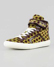Pierre Hardy Print Velvet Cubed Hitop fashon sneaker Size 42 New In box .