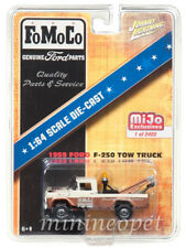 JOHNNY LIGHTNING JLCP7037 1959 FORD F-250 FOMOCO TOW TRUCK 1/64 DIECAST BROWN