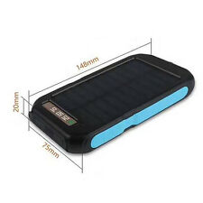 6000mAh USB Charger Power Bank Portable Waterproof Solar For Tablets Phones
