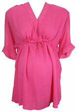 Ex Store Maternity Cold Shoulder Top Pink
