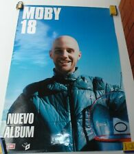 MOBY 18 POSTER EMI MUSIC COLOMBIA 2002