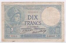 BILLET 10 FRANCS MINERVE AT 30 9 1926 AT 583 Z 28867