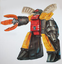 1985 Hasbro Transformers Omega Surpreme Box Art (Cut out from Box)
