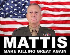 "Gen. Mattis ""Make Killing Great Again"" TOOL BOX HELMET BUMPER STICKER DECAL"