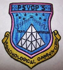 United States (US) Psychological Operations PSYOP'S Patch (Hard to Find)