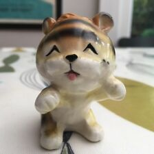 Tiger Tabby Cat Ornament Retro Kitsch Vintage 60s Kawaii Japan Napco Lefton