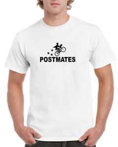 "POSTMATES Full Front 12"" wide Print Unisex T-shirt Choose From Several Colors"