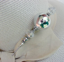 Sexy Hatpin With Bright Silver Mirror 