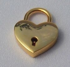Large Heart Lock, Gold tone with 2 keys Really works