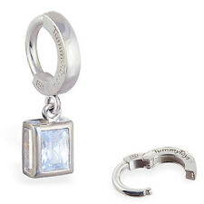TummyToys Silver Emerald Cut CZ Belly Ring