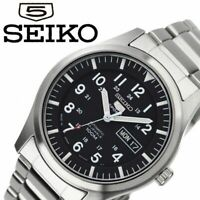 SEIKO 5 SPORTS AUTOMATIC SNZG13J1 BLACK, SS BAND MADE IN JAPAN SNZG13 MEN WATCH