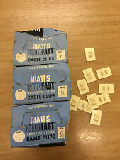 """300 x Hiatts """"Studfast"""" Adhesive Fixing Cable Clips Size 6"""