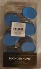 New listing 12 Blonder Home Hand Crafted Shower Curtain Hooks Vibes Blue New