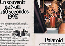 PUBLICITE ADVERTISING 064 1973 POLAROID appareil photo Colorpack 80  (2 pages)