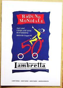 Original programme from the 1997 World Lambretta scooter Jamboree Milan Italy