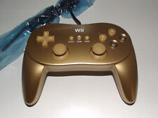 Genuine Nintendo Wii Gold Classic Controller Pro Remote Preloved