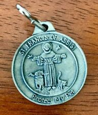 "St Francis Assisi Tag/Medal ""Protect My Pet"" Engravable Patron Saint of Pets"