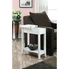 Convenience Concepts American Heritage Flip Top End Table, White - 7105059W