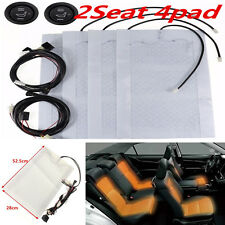 2-Seats Carbon Fiber Heated Car Auto Seat Heater Cover Pad w/High/Low Switch 12V